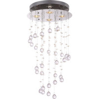 LED SVJETILJKA STROPNA - boje kroma, Design, metal/plastika (32/65cm)