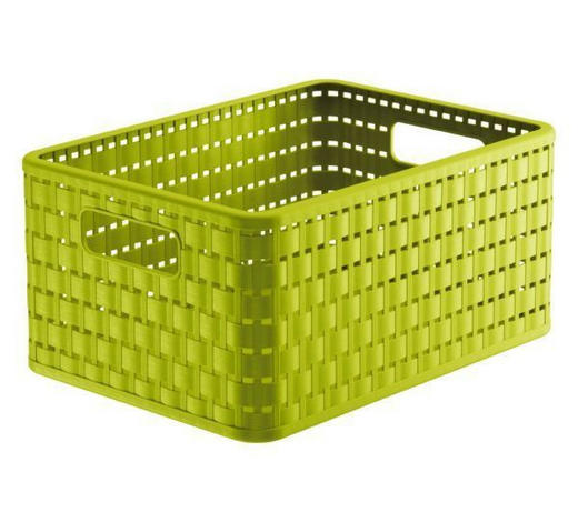 KORB - Grün, Basics, Kunststoff (32,8/23,8/16cm) - Rotho