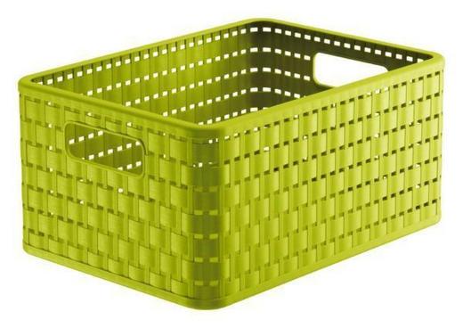 KORB - Grün, Basics, Kunststoff (32,8/23,8/16cm)