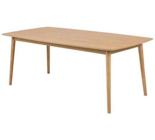 ESSTISCH Eiche furniert Eichefarben  - Eichefarben, Design, Holz (180/90/75,5cm) - Carryhome