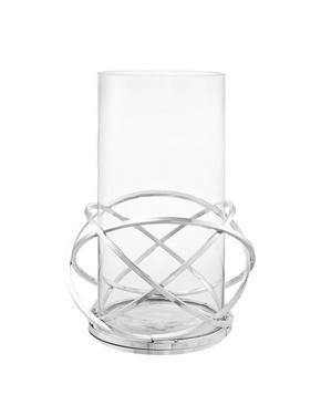 LJUSLYKTA - klar/silver, Design, metall/glas (23/32cm) - Ambia Home