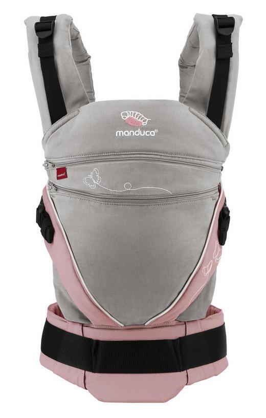BABYTRAGE Manduca XT - Rosa/Grau, Trend, Textil (22,0/34,00/12,00cm) - Wickelkinder Manduca