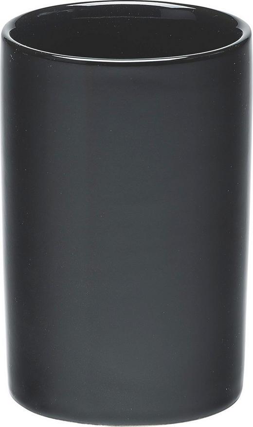 ZAHNPUTZBECHER - Schwarz, Basics, Keramik (6/15cm)