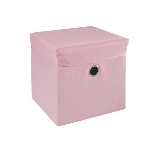 BOX NA HRAČKY - růžová, Trend, dřevo/textilie (32/32/32cm) - My Baby Lou