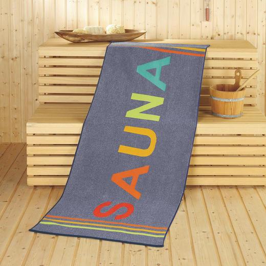 SAUNATUCH 70/180 cm - Blau, Textil (70/180cm)