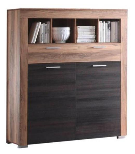HIGHBOARD Dunkelbraun, Nussbaumfarben - Dunkelbraun/Nussbaumfarben, Design, Holzwerkstoff/Kunststoff (120/137/40cm) - Carryhome