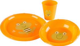 KINDERGESCHIRRSET 3-teilig  - Orange, Basics, Kunststoff - My Baby Lou