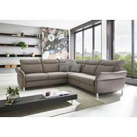 SEDACÍ SOUPRAVA, šedá, kůže - šedá, Design, kov/kůže (265/265cm) - Beldomo Speed