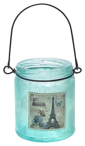 LJUSLYKTA - blå, Trend, metall/glas (7,5/9cm) - Ambia Home