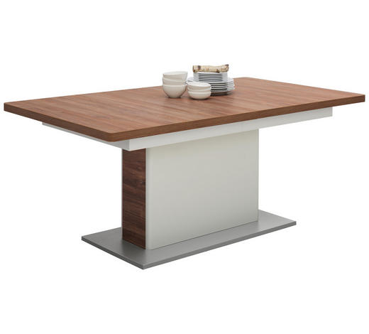 ESSTISCH in Holzwerkstoff 180(280)/100/77 cm - Eichefarben/Weiß, KONVENTIONELL, Holzwerkstoff (180(280)/100/77cm) - Xora