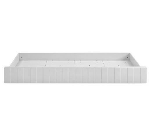 BETTKASTEN - Weiß, Design, Holzwerkstoff/Kunststoff (195/93/17cm)