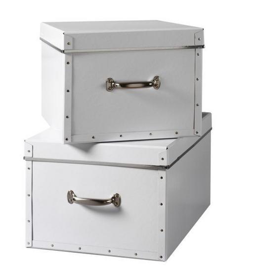 BOX 42 X 36 X 28 Karton Weiß - Weiß, Karton (42/36/28cm) - Boxxx