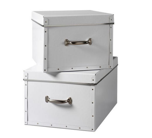 BOX 50 x 38 x 28 Karton Weiß  - Weiß, Basics, Karton (50/38/38cm) - Boxxx