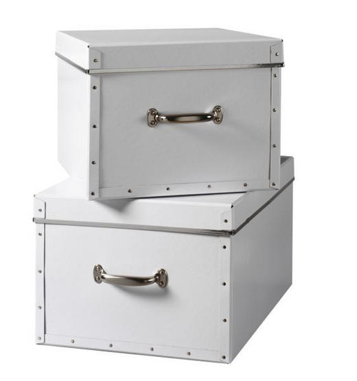 BOX 50 x 38 x 28 Karton Weiß - Weiß, Karton (50/38/38cm) - Boxxx