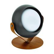 LAMPA STOLNÍ - černá/barvy dubu, Design, kov/dřevo (22/25/27cm) - Dieter Knoll