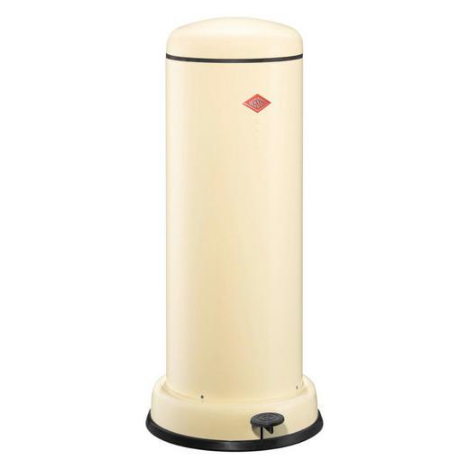 ABFALLSAMMLER BASEBOY 30 L - Edelstahlfarben/Creme, Metall (36,2/80cm) - Wesco