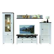 REGAL ZA DNEVNI BORAVAK - boje ariša/bijela, Lifestyle, drvni materijal (300/203/40cm) - Landscape