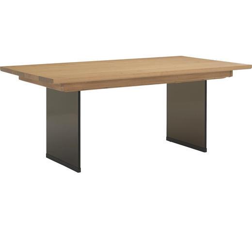 ESSTISCH in Holz, Glas 160/100/76,5 cm - Eichefarben/Dunkelbraun, Design, Glas/Holz (160/100/76,5cm) - Voglauer