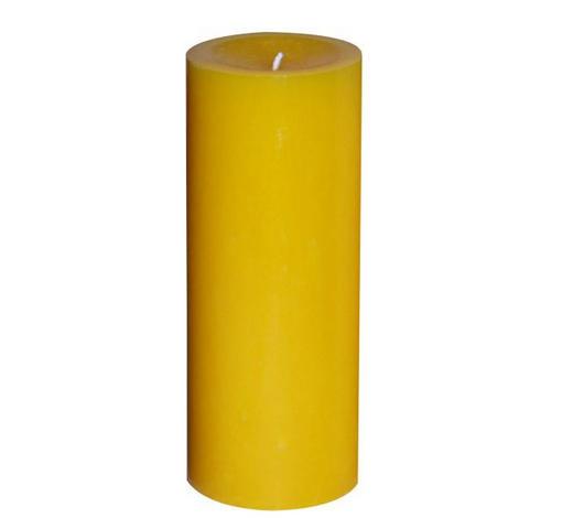 STUMPENKERZE 6,8/20 cm - Gelb, Basics (6,8/20cm) - Steinhart