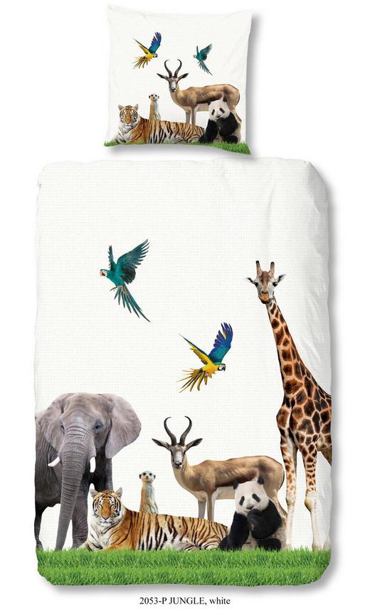 JUGENDBETTWÄSCHE Renforcé Weiß 135/200 cm - Weiß, Textil (135/200cm)