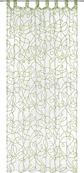 GARDINLÄNGD - vit/grön, Klassisk, textil (140/245cm) - Boxxx