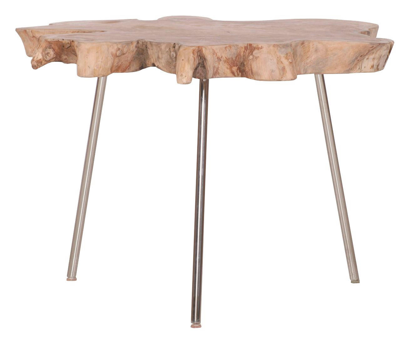 COUCHTISCH Teakholz - LIFESTYLE, Holz/Metall (60-75/50cm)