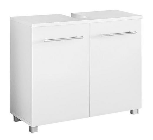WASCHBECKENUNTERSCHRANK Weiß - Chromfarben/Silberfarben, Design, Holzwerkstoff/Metall (60/55/31,3cm) - Xora