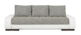 SCHLAFSOFA in Textil Grau, Weiß  - Wengefarben/Braun, Design, Holz/Textil (243/74-90/100cm) - Carryhome