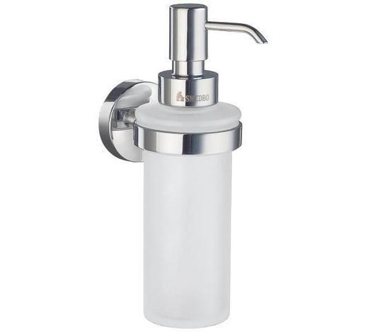 SEIFENSPENDER Metall, Glas  - Chromfarben, Basics, Glas/Metall (6/18/8,4cm)