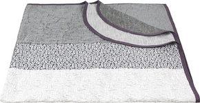 SÄNGÖVERKAST - vit/grå, Design, textil (220/240cm) - Novel