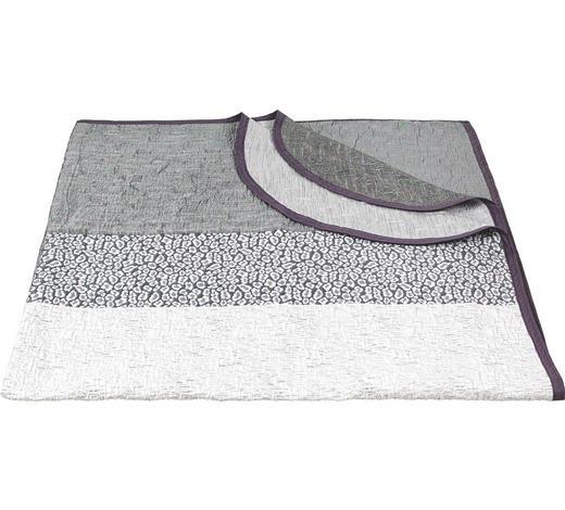 PŘEHOZ NA POSTEL, 220/240 cm, šedá, bílá - šedá/bílá, Design, textil (220/240cm) - Novel