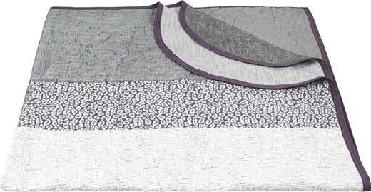 TAGESDECKE 220/240 cm - Weiß/Grau, Design, Textil (220/240cm) - Novel