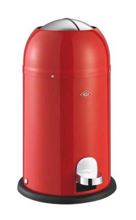 ABFALLSAMMLER KICKMASTER JUNIOR 12 L - Edelstahlfarben/Rot, Kunststoff/Metall (30/51cm) - Wesco