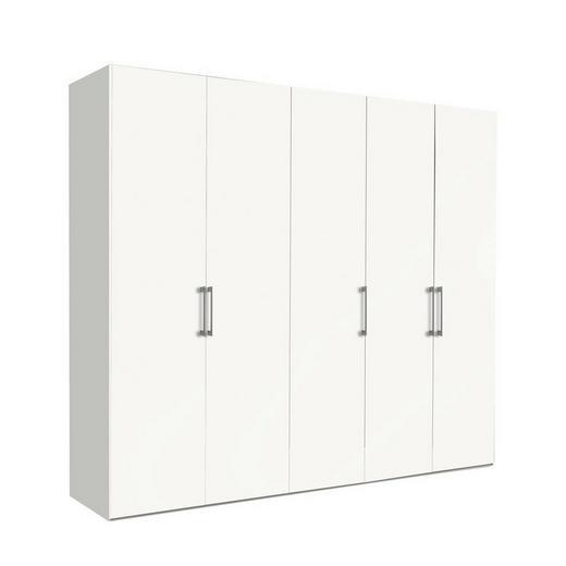 DREHTÜRENSCHRANK 5  -türig Weiß - Weiß, KONVENTIONELL, Holzwerkstoff/Metall (250/216/58cm) - Hom`in