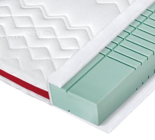 KALTSCHAUMMATRATZE 90/200 cm - Weiß, Basics, Textil (90/200cm) - Sembella