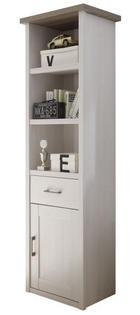 REGAL - bijela/boje grafita, Design, drvni materijal/metal (60/201/43cm) - Carryhome