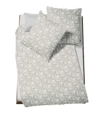 POSTELJINA - boje srebra, Konvencionalno, tekstil (140/200cm) - Fleuresse