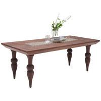 JÍDELNÍ STŮL, masivní, mangové dřevo, tmavě hnědá - tmavě hnědá, Basics, dřevo/dřevěný materiál (200/100/76cm) - Ambia Home