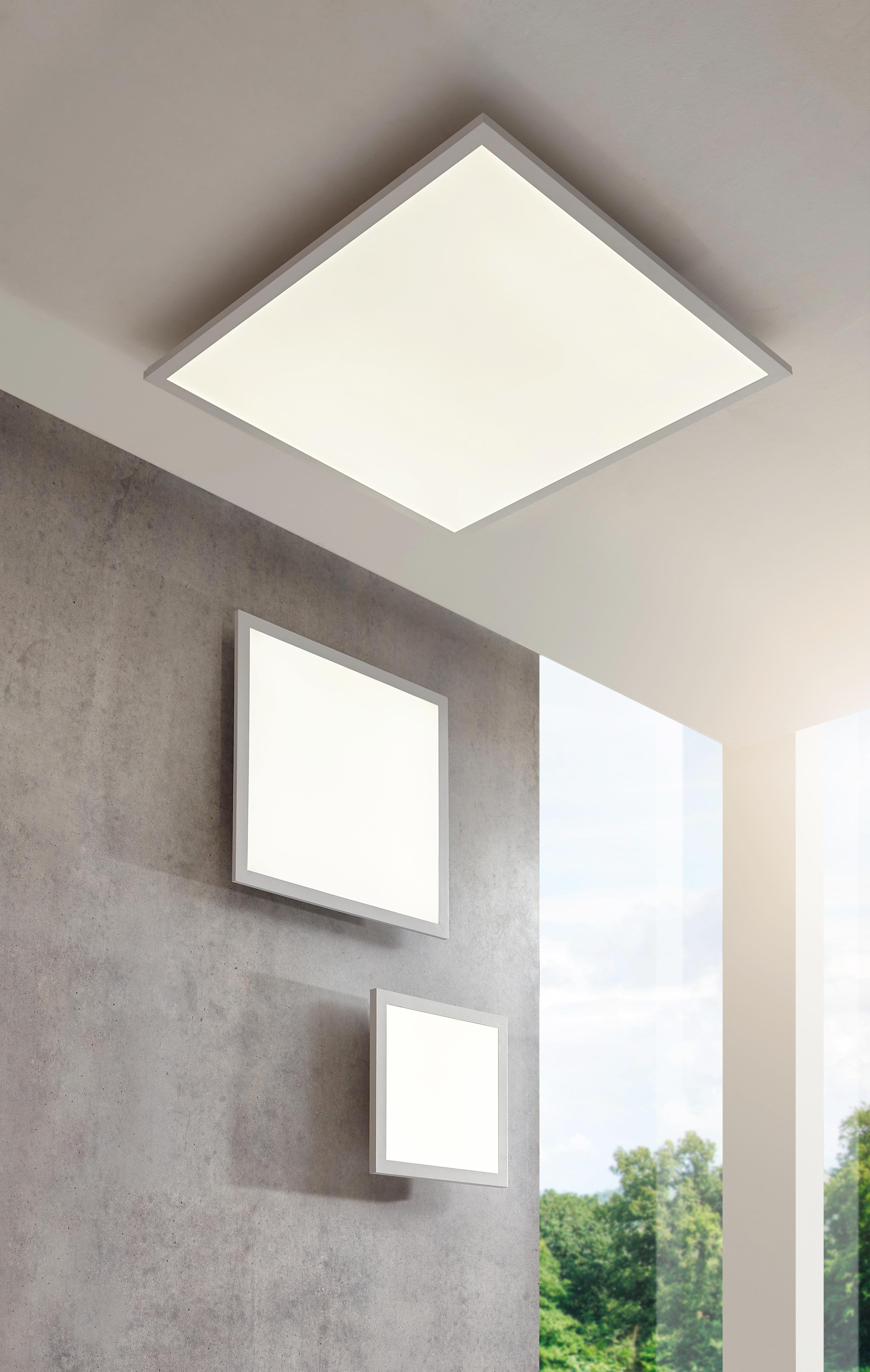 LED-DECKENLEUCHTE - Weiß, Design, Metall (30/30/5,6cm) - NOVEL