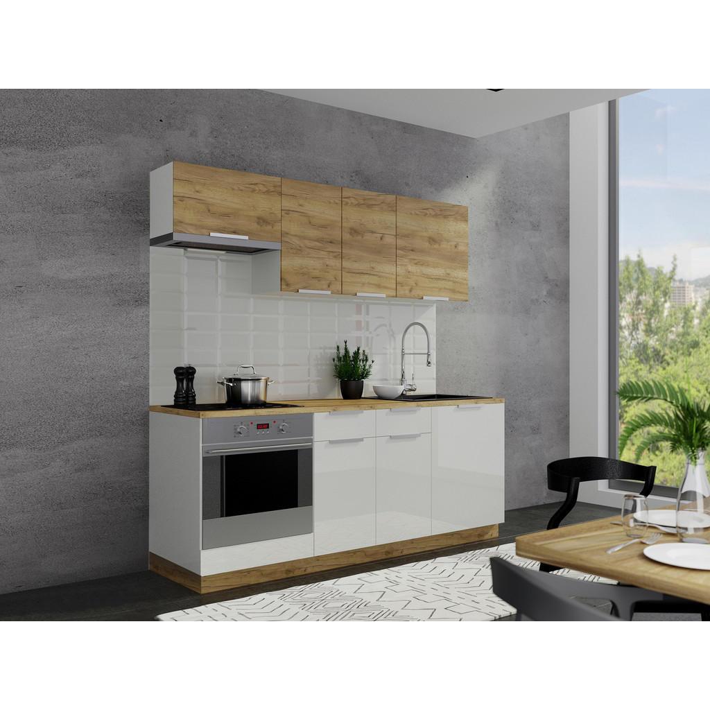 Kuchyňský Blok - bílá bronzová