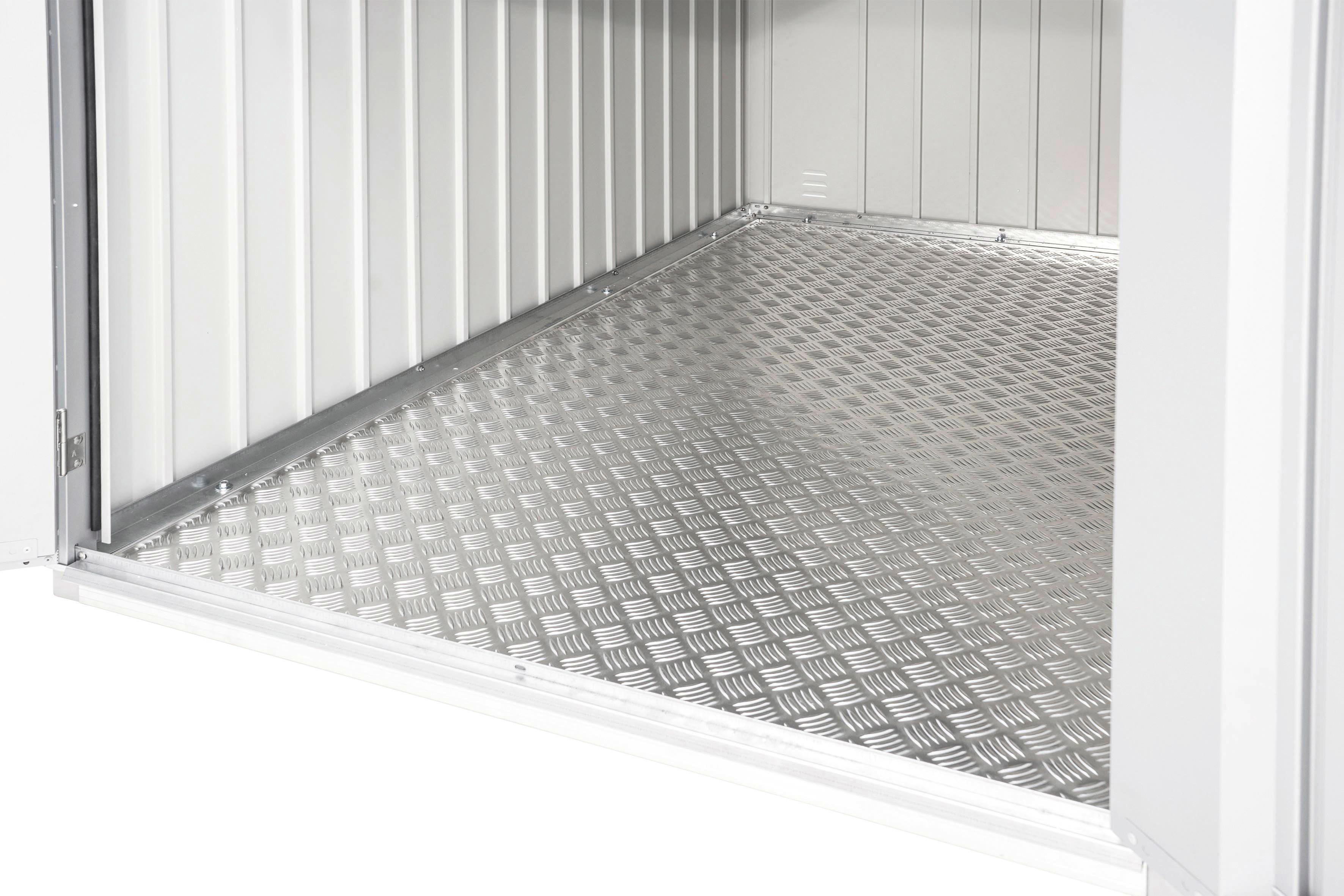 BODENPLATTE - Silberfarben, Design, Metall (109/0,2/190cm)