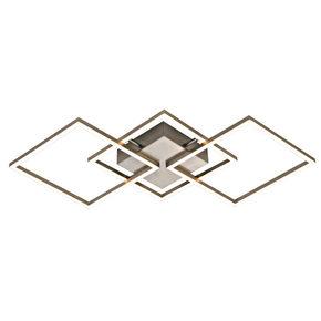 LED-TAKLAMPA - alufärgad/nickelfärgad, Design, metall/plast (54/54/6cm) - Novel