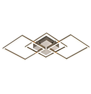 LED-TAKLAMPA - alufärgad/nickelfärgad, Design, metall/plast (75,5/54/6cm) - Novel