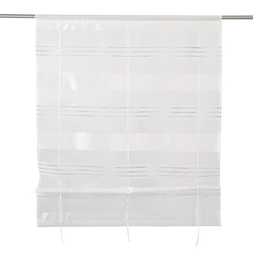 RAFFROLLO  halbtransparent   100/130 cm - Weiß, Basics, Textil (100/130cm) - Esposa