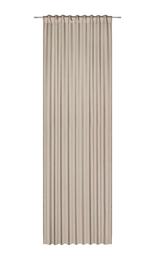 FERTIGVORHANG  transparent  135/300 cm - Taupe, KONVENTIONELL, Textil (135/300cm) - Boxxx