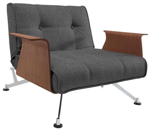 SESSEL Webstoff Anthrazit - Anthrazit/Nussbaumfarben, Design, Holz/Textil (113/77/92-115cm) - Innovation