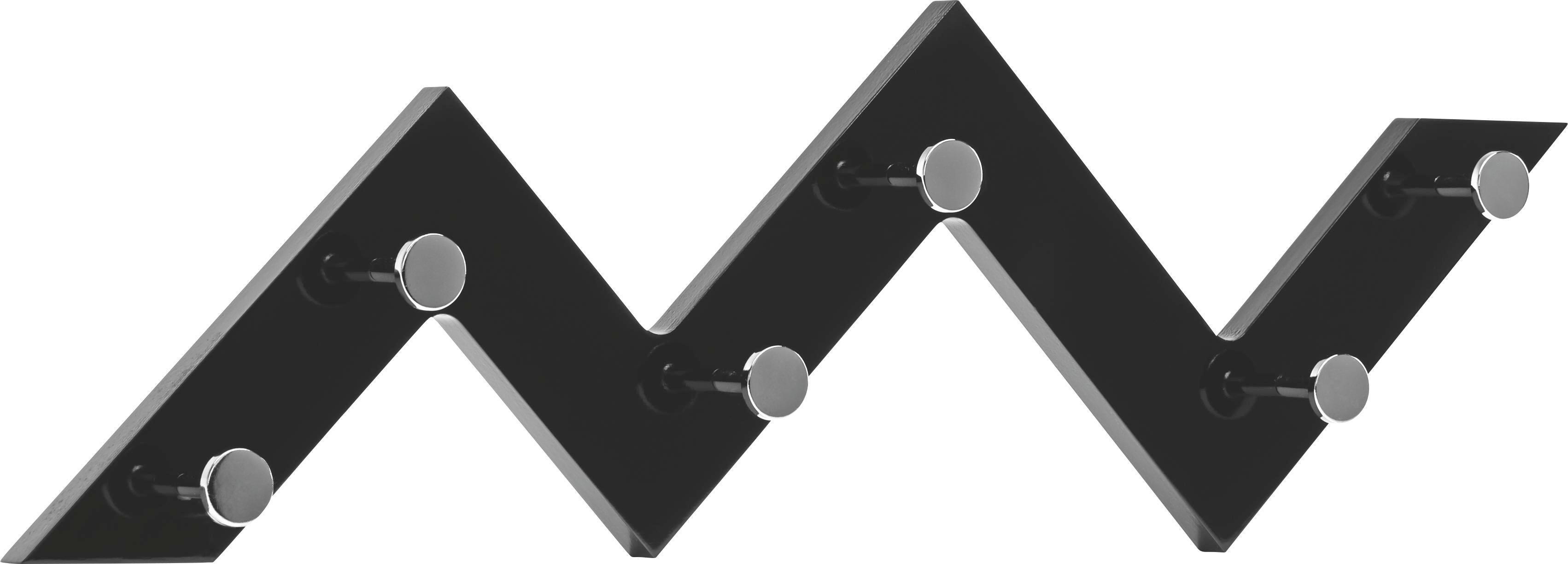 GARDEROBA ZIDNA - boje kroma/crna, Design, drvni materijal/metal (56/34/3cm) - LESNINA-XXXL