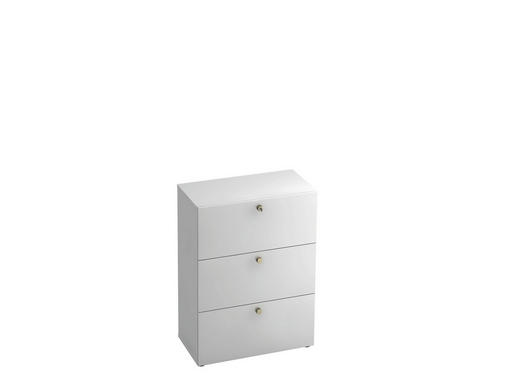 HÄNGEREGISTERELEMENT - Alufarben/Weiß, KONVENTIONELL, Holzwerkstoff/Kunststoff (80/110/42cm)