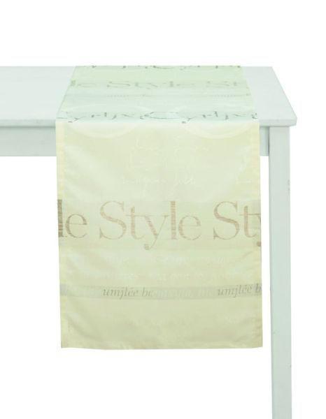 TISCHLÄUFER Textil Jacquard Beige 45/140 cm - Beige, Basics, Textil (45/140cm)
