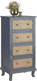KOMODA, modra, rjava - modra/medenina, Trend, kovina/leseni material (55/110/40cm) - Landscape